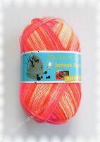 Hatnut Feet 4fach Sockenwolle orange pink 100 g Fb 101