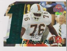 1995 Classic Draft Die Cut Warren Sapp rookie card, Tampa Bay Buccaneers, #/1750