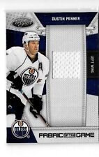 DUSTIN PENNER 2010-11 CERTIFIED FABRIC OF THE GAME GAME USED JERSEY#/250