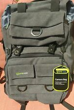 Camera Backpack, Evecase Canvas DSLR Travel Camera Backpack w/Laptop Compartment