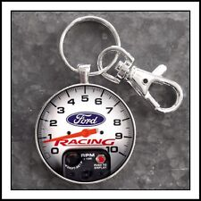 Ford Racing Competition Shift Tachometer Photo Keychain Charm Pendant
