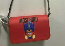 $775 AW17 Moschino Couture Jeremy Scott Transformers Wallet Shoulder Bag wChains