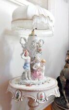 Antique Italian Porcelain Children in the garden statue de Capodimonte Lamp