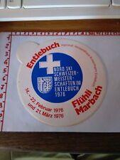 ADESIVO VINTAGE STICKER kleber ENTLEBUCH FLUHLI MARBACH 1976 NORD SKI
