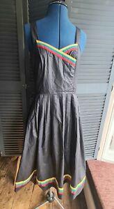 Vintage Summer Dress, 70's/80's Swing, Size 12