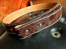 New Nwt True Vintage 60s sz 30 Small Faux Reptile Circle S Belt