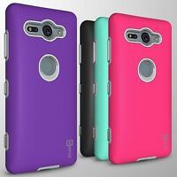 Hard Slim Heavy Duty Dual Layer Phone Cover Case for Sony Xperia XZ2 Compact
