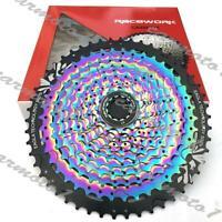 Racework 12 Speed MTB Bike Cassette W/11-50T Rainbow flywheel For Shimano
