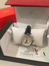 Tissot Women's PR 100 Silver Dial Leather Strap Chronograph Watch T0552171603202