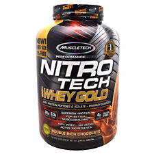 Muscletech Nitro Tech WHEY GOLD Protein 5.5 lb, 76 Serves DOUBLE RICH CHOCOLATE