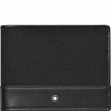 New Montblanc Nightflight Black Meisterstuck wallet with money clip