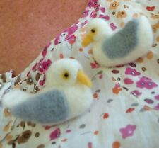 Needle felted Seagull brooch. Gifts, present, jewellery, handmade shabby chic.