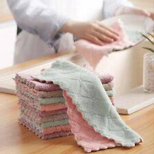 5PCS Super Absorbent Microfiber Kitchen Dish Cloths Washing Cleaning Towel