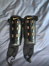 nike charge black and orange shin guards soccer used great condition soccer
