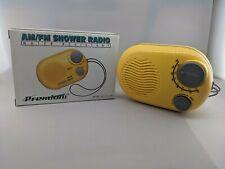 Premium Am Fm Shower Radio Water Resistant - Yellow