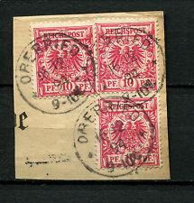 Oberried badischer Ablösestempel auf 3 mal Reich Nr. 47  (D70)