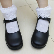 Cute Lolita Round Toe Women Cosplay Maid Shoes School Mary Janes Shoes Flats C45