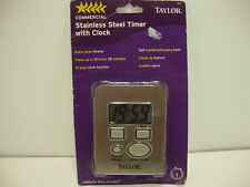 New listing Taylor Stainless Steel Kitchen Timer & Clock