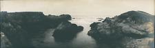 USA, Monterey (California), The rocks  Vintage silver print. Panoramic View. Vue