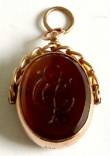 Watch Fob With Bloodstone & Carnelian A Victorian 9Ct Rose Gold Swivel