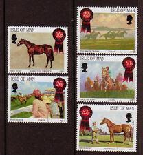 ISLA DE MAN 2001 Carreras de caballos Cuadros Juego de 5 MATASELLADO