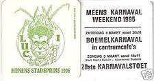 Oud viltje Menens Stadsprins 1995 r/v Meens karnaval 95