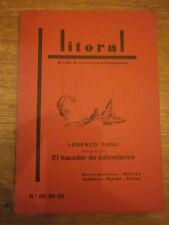 Litoral Nº 88-89-90 Lorenzo Saval presenta su libro El hacedor de calendarios