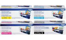 BROTHER TN315BK TN310C TN310Y TN310M TONER SET (4-PACK) MFC-9560CDW, MFC-9970CDW