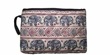 Makeup Cosmetic Bag Travel Pencil Pen Case Purse Pouch Elephant Canvas