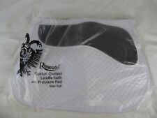 RHINEGOLD PRESSURE PAD HORSE SADDLE CLOTH - WHITE -  (ONE SIZE/FULL) - BNWT