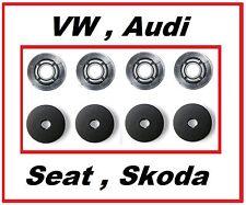 VW Befestigung Clip Skoda Audi Fußmatten + Gummimatten  RUND - 4 Stück