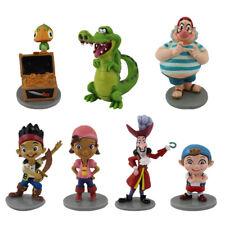 7PCS/Set Jake And The Neverland Pirates PVC Figure Figurine Toy Doll Gift 5-10cm