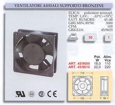 VENTOLA DI RAFFREDDAMENTO ASSIALE 220V 120X120 SUPPORTO BRONZINE