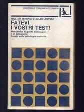 FATEVI I VOSTRI TEST! di William Bernard e Jules Leopold