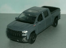 1/43 Scale 2019 Chevy Silverado Z71 Trail Boss Truck Model - MotorMax 73677 Grey