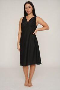COTTON EMBROIDERED BUST Full Slip/Petticoat Underlips WHITE CREAM & BLACK