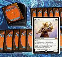 mtg BLUE WHITE AZORIUS DECK Magic the Gathering rares 60 cards sun titan angels