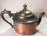 Antique Tea Kettle Pot Bronze & Brass Handmade Great Centerpiece