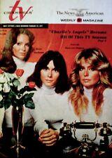 TV Guide 1977 Charlie's Angels Farrah Fawcett Kate Jaclyn Regional EX/NM COA