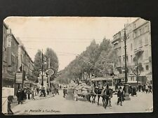 Marseille Le Cours Belzunce France Antique Postcard 1909 Posted