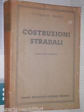 COSTRUZIONI STRADALI Vittorio Baggi UTET 1954 libro tecnica manuale tavole di