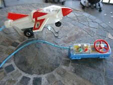 Vintage Antique rocket airplane Japan Battery Operated Remote Control