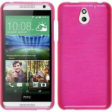 Silicone Case HTC Desire 610 brushed hot pink + protective foils