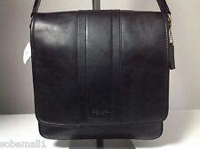 Coach Heritage Map Bombe Leather Black/Black Crossbody Messenger Bag F71641
