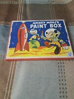 Vintage Walt Disney Paint Tin. Mickey Mouse in Space. Transogram metal paint box