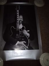 B.B.KING SIGNED POSTER SIZE 24X36 INCREDIBLE!  VERY RARE! MINT! PROOF! R.I.P!