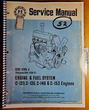 New Listingih Farmall 140 240 340 404 424 2424 444 2444 504 2500 2504 Tractor Engine Manual