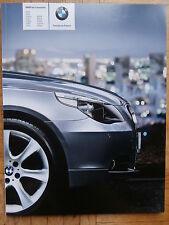 BMW 5er Berline 523i-550i,520d,525d,530d/xd 535d e60 9/2006 brochure catalogue