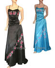 Formal Evening Dress Gown Blue Black Size 10 12 14 16 18 20 22 24 New