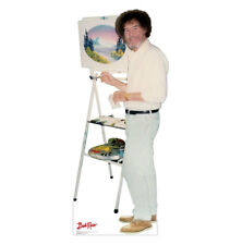 BOB ROSS LIFE SIZE STAND UP FIGURE PAINTER ART INSTRUCTOR HOME DECOR OIL PAINT!!